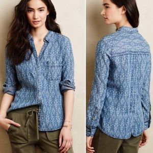 Anthropologie Holding Horses Chambray Shirt